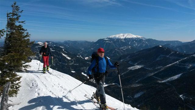 Preintaler Berge – na pásech na Perschkogel (1669m) a Lahnberg (1594m) a na lyžích dolů