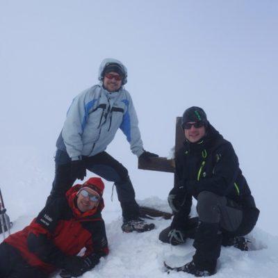 U vrcholového kříže - Kriváň 2494 m
