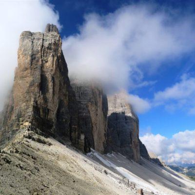 Tre Cime di Lavaredo, klasický symbol Dolomitů a lezení v nich